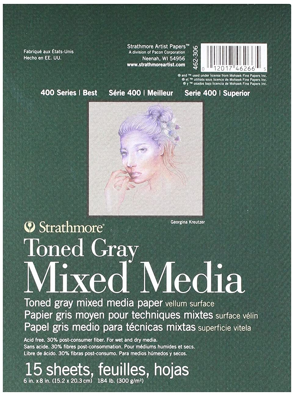 Strathmore 400 Series Toned Gray Mixed Media Pad, 6