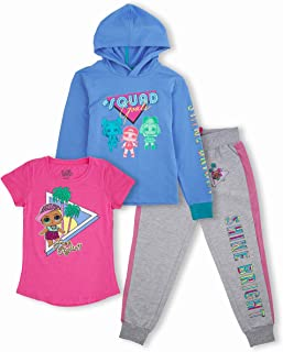 L.O.L. Surprise! Girls' Graphic Hoodie, Top and Jogger Legging, 3-Piece Athleisure Outfit Set - Girls 4-16