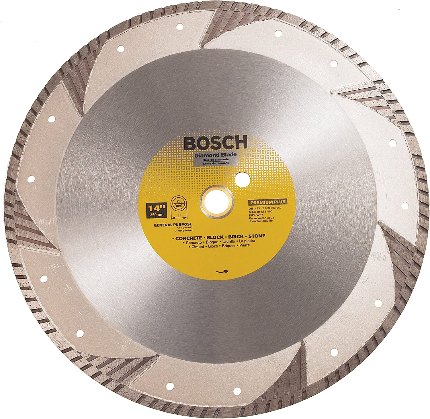BOSCH Beauty products DB1463 Premium Industry No. 1 Plus 14-Inch Dry Turbo Wet Cutting Conti or