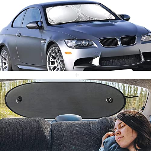 discount EcoNour Gift Bundle | Car Windshield Sun Shade (Standard 64 x 32 Inches) + Car Rear Windshield popular Sunshade (Large 39 x 17 Inches) | UV & Sun Glare popular Protection | Complete Coverage for Rear Window outlet online sale