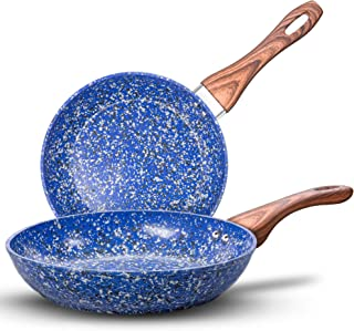 MICHELANGELO Nonstick Frying Pans, Granite Frying Pans with Stone-Derived Coating, Stone Fry Pan Nonstick, Stone Skillets ...