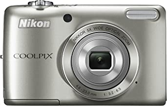 Nikon COOLPIX L26 16.1 MP Digital Camera with 5x Zoom NIKKOR Glass Lens and 3-inch LCD (Silver) (OLD MODEL)