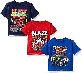 Boys' Blaze and Monster Machines 3 Pack T-Shirt Bundle