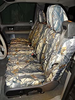 Durafit Seat Covers, for F369-Camo Trees-C, 2004-2008 Ford F150 XLT, Super or Regular Cab, NOT for Crew/Double CAB, Front 40/20/40 Split Seat, Car Truck Seat Covers, in Camo, Endura Fabric