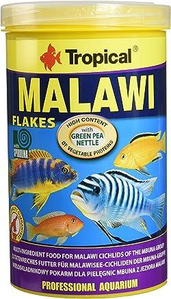 Tropical Malawi - Comida para peces en copos, especial para peces tropicales cíclidos de Malaui