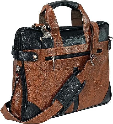 Storite PU Leather 14 inch Laptop Shoulder Messenger Sling Office Bag for Men & Women – (40 x 29 x...