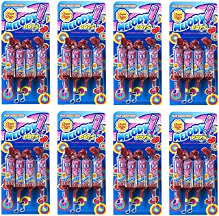 8 x Melody Pops Chupa Chups Whistle Lollies Strawberry Flavour - Packs of 4 (32 Lollies) …