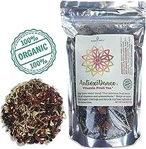 Modest Earth AntioxiDance | 100% ORGANIC Fruit Tea | Hibiscus & Superfood Berries, Vitamin & Antioxidant Rich | Caffeine-Free, ZERO CARBS | Natural AntiAging Home Remedy Drink | 40+ SERVINGS (6.20 OZ)