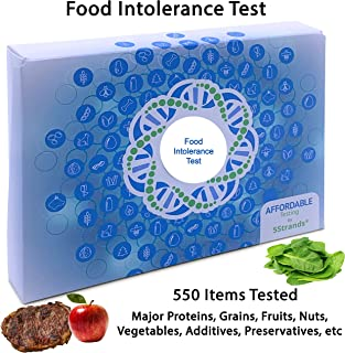 5Strands | Affordable Testing | Food Intolerance Test | at Home Hair Analysis Kit | Tests 550 Items | Protein, Gluten, Soy, Lactose, Preservatives, | Results 7-10 Days