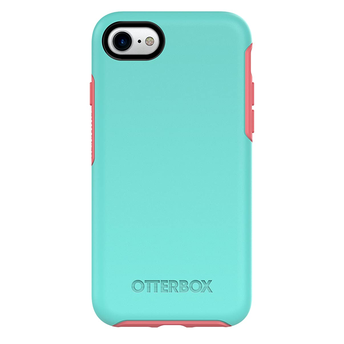 OtterBox SYMMETRY SERIES Case for iPhone 8 & iPhone 7 (NOT Plus) - Retail Packaging - CANDY SHOP (AQUA MINT/CANDY PINK)