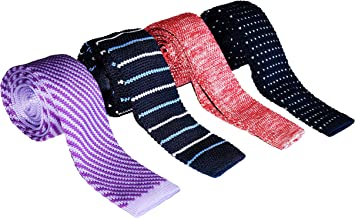 Zakka Republic Mens Knitted Square Flat End Fashion Neck Ties Collection (BTS-04A)
