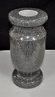 Granite Monument Gravestone Headstone Tombstone Memorial Vase - Charcoal 12