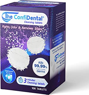 The ConfiDental- 108 Dental Appliance Cleansing Tablets - 3 1/2 Month Supply, Ideal for use with Dental Appliances