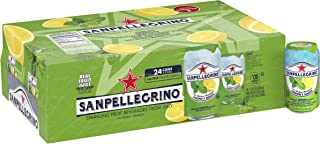 San Pellegrino Sparkling Fruit Beverage, Lemon & Mint, 11.15 Fluid Ounce (24 Pack)