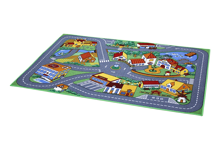 Associated Weavers Spielteppich Stadt 95 x 133 cm Mehrfarbig