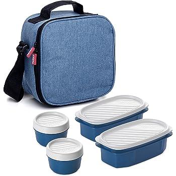 Azul Grande Bolsa/Portaalimentos/Termica para Picnic Acampar Pesca Trabajo de viaje Luxuvee Bolsa/Termica/Porta/Alimentos con Correa Ajustable para Adultos Bolsa/Isotermica/Porta/Alimentos