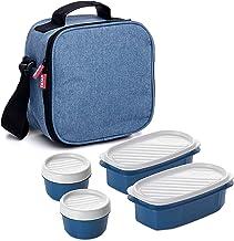 Tatay Urban Food Casual Koeltas Met 4 Luchtdichte Deksels, 3 Liter Inhoud, Jeansblauw, 22,5 x 10 x 22 Cm