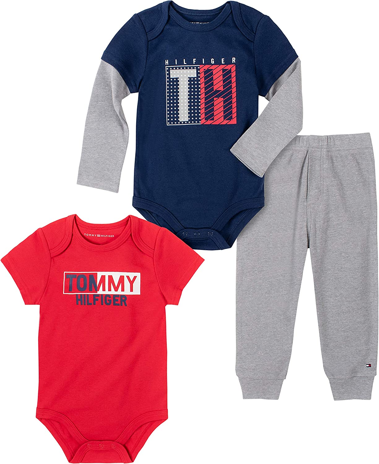 Tommy Hilfiger baby-boys 3 Bodysuit Pants New York Mall Pieces Max 51% OFF Set