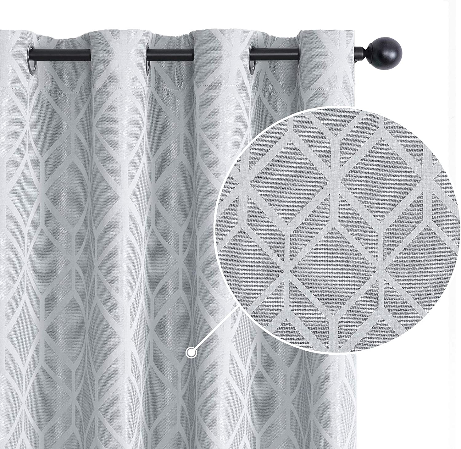 Topfinel Jacquard Cheap mail order shopping Room Darkening Curtains Bed Inches Long Tampa Mall for 84