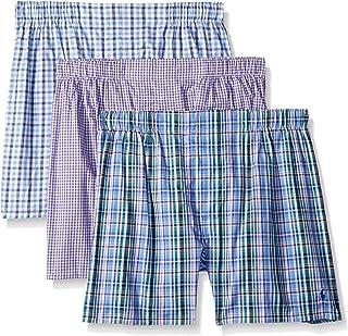 Polo Ralph Lauren Men`s Classic Fit Cotton Woven Boxers 3 Pack