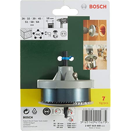 Bosch 2607019449 Set Brocasierras 7 Piezas