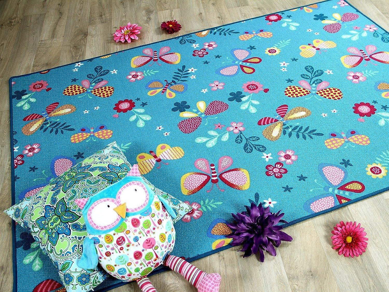 Snapstyle Kinder Kinder Kinder Spiel Teppich Schmetterling Türkis in 24 Größen B00XMBAW20 2ca9ca