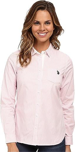 Long Sleeve Vertical Stripe Shirt