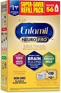 Enfamil NeuroPro Baby Formula, Brain and Immune Support with DHA, Iron and Prebiotics, Infant formula inspired by Breast M...