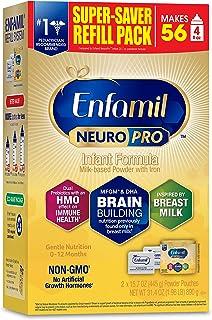 Enfamil NeuroPro Baby Formula inspired by Breast Milk, Brain and Immune Support with DHA, Iron & Prebiotics, Non-GMO, Refi...