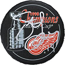 Steve Yzerman Detroit Red Wings Signed Autographed 1998 Stanley Cup Champins Hockey Puck COA