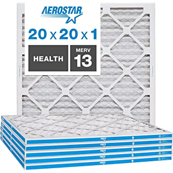 AFB20x20x1M8pk4 100/% produced in the USA FilterBuy AFB Silver MERV 8 20x20x1 Pleated AC Furnace Air Filter Inc Pack of 4 filters