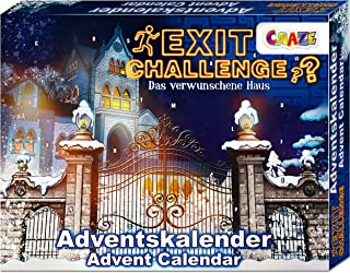 CRAZE Premium 24720 Christmas Advent Calendar 2020 EXIT Challenge Escape Game for Girls and Boys with exciting Content and...