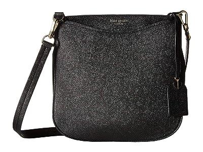 Kate Spade New York Margaux Large Crossbody (Black) Handbags