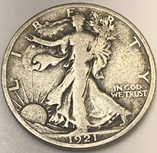 1921 S Walking Liberty KEY DATE RARE Half Dollar Fine +