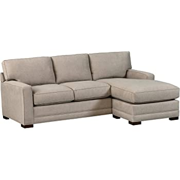 "Amazon Brand – Stone & Beam Dalton Chaise Sectional Sofa Couch, 91.5"", Stone"