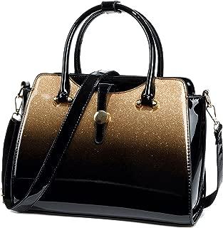 Womens Patent Leather Satchel Handbags