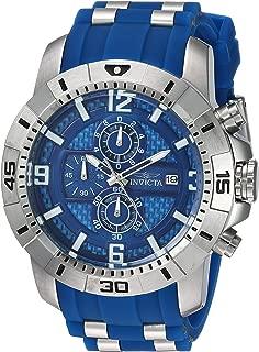 Men's Pro Diver Quartz Watch with Stainless-Steel Strap, Blue, 26 (Model: 24963)