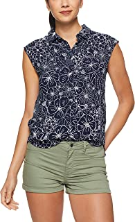 French Connection Women's Beach Floral Sleeveless Shirt, Nocturnal/Summer WHI