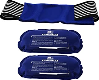Ice Pack (2-Piece Set) – Reusable Hot and Cold Therapy Gel Wrap Support Injury Recovery, Alleviate Joint and Muscle Pain –...