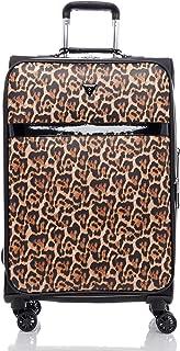 guess leopard suitcase