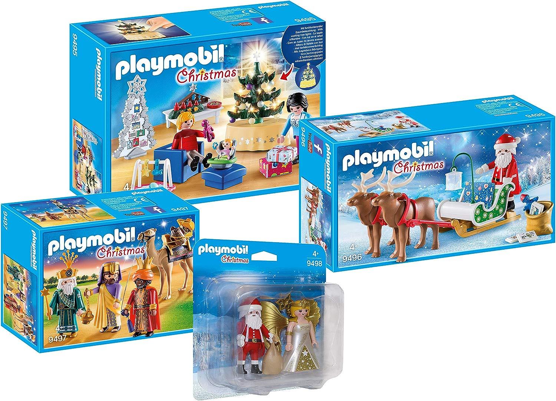 Playmobil Set Natalizio a 4 Pezzi per la Gioia di Natale  9495 9496 9497 9498