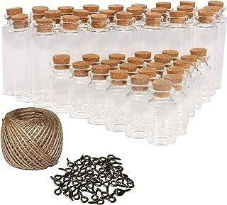 Fiesta Ciencia 15pcs de pl/ástico Tubos de ensayo de almacenamiento tarros y botes del ni/ño con el casquillo 40 ml Borrar prueba de la botella transparente de sellado de contenedores de almacenamiento
