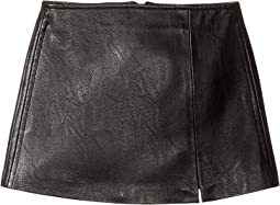 Blank NYC Kids - Black Vegan Leather Mini Skirt in Break The Ice (Big Kids)