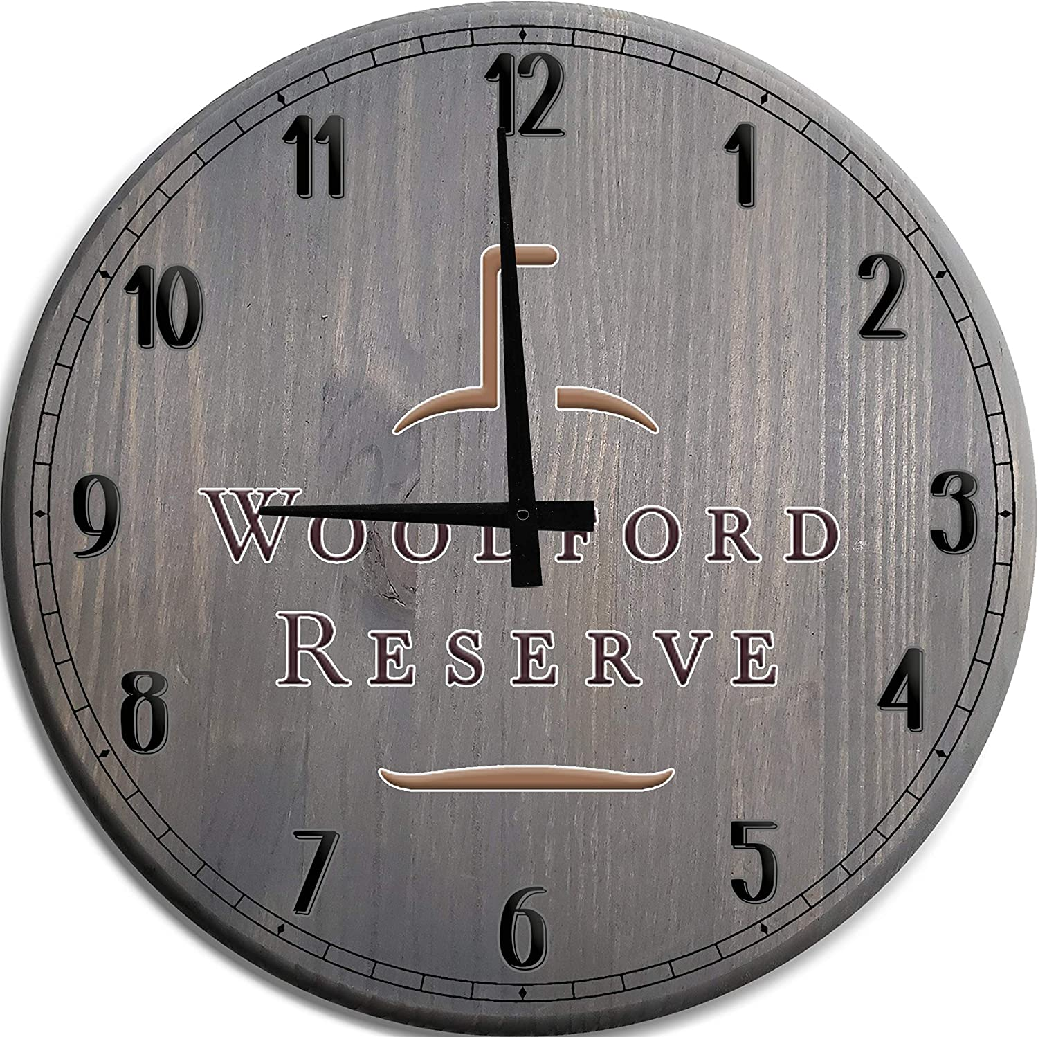 TBA Large Wall Clock 国産品 ギフト Woodford Reserve Whiskey Cave Man Bourbon W