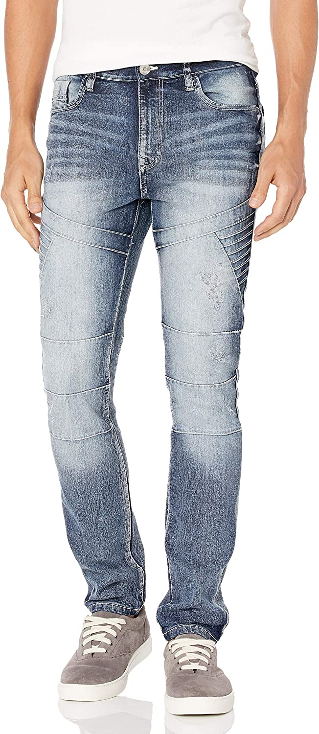 Southpole Men's Comfortable Fashion Skinny Stretch Denim Pants with Various Designs : Clothing, Shoes & Jewelry