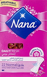 Nana Panty Liners, Normal Single Wrapped, Pack of 22