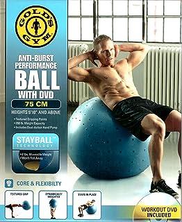Bola de Ginástica Gold's Gym 75cm com Estabilizador