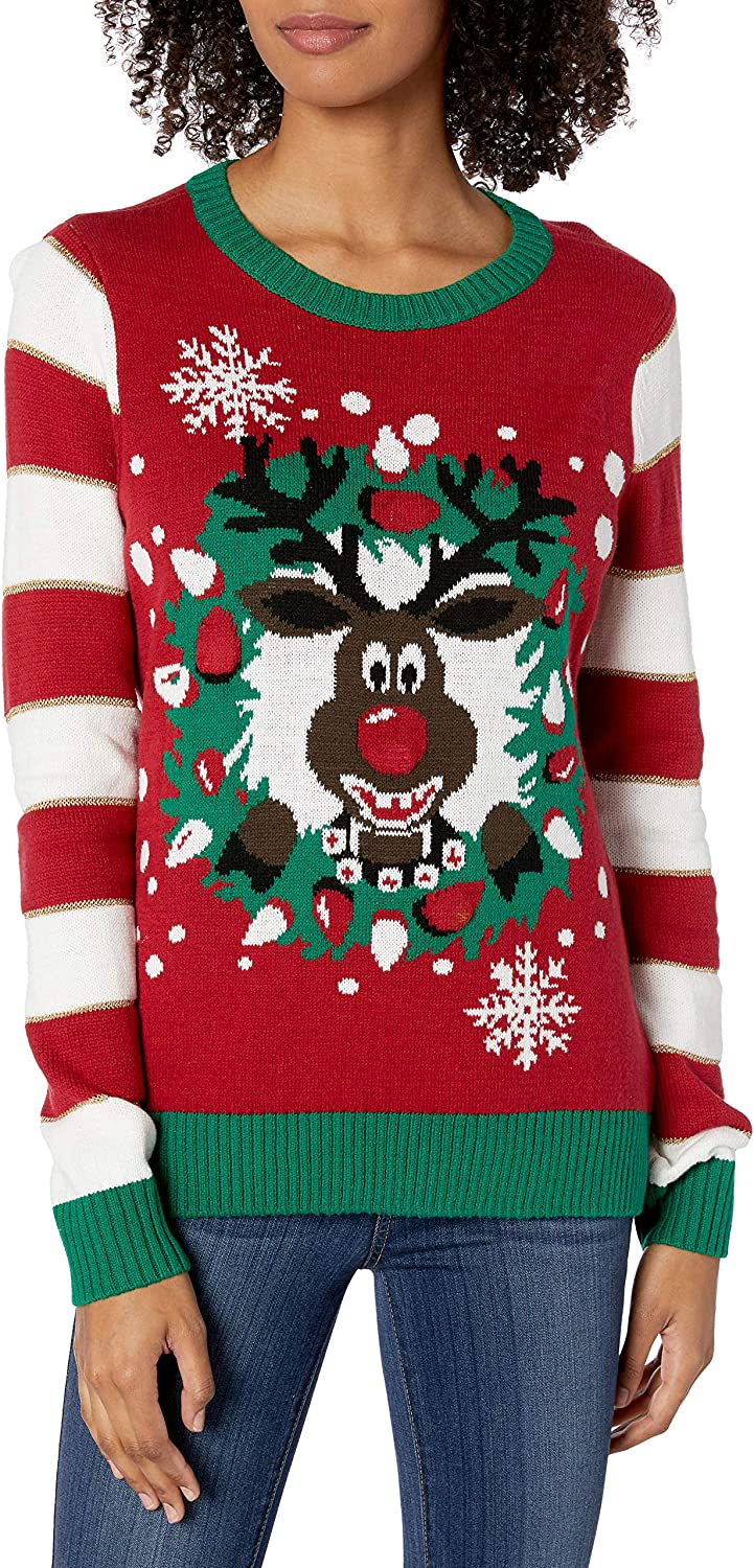 Ugly Christmas Sweater Company Womens Assorted Pullover Xmas Sweaters with M.