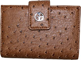 Giani Bernini Block Signature Zip Around All In One Wallet Brown//British Tan