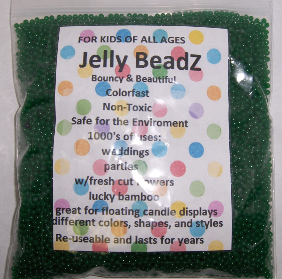 JellyBeadZ Brand - 8oz -Almost 15,000 Water Bead Gel - TURQUOISE- Heat Sealed Bag- Water Pearls Gel Beads- Wedding & Event Centerpieces